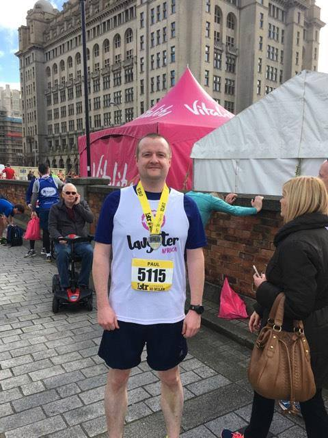 Paul O'Callaghan participated in a 10 mile race to fundraise for Laughter Africa on 3rd April 2017