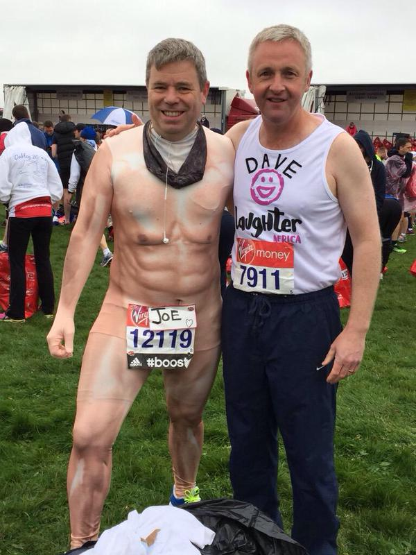 Joe McArdle and Dave Cartmell ran the London Marathon in April 2015. David also ran the London Marathon again in 2016.