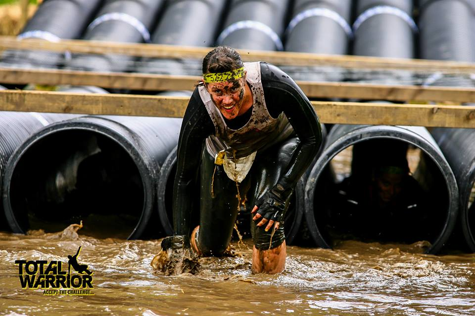Clare Silcock, from Leigh, took part in Leeds Total warrior in June 2015 with some of her work colleagues.