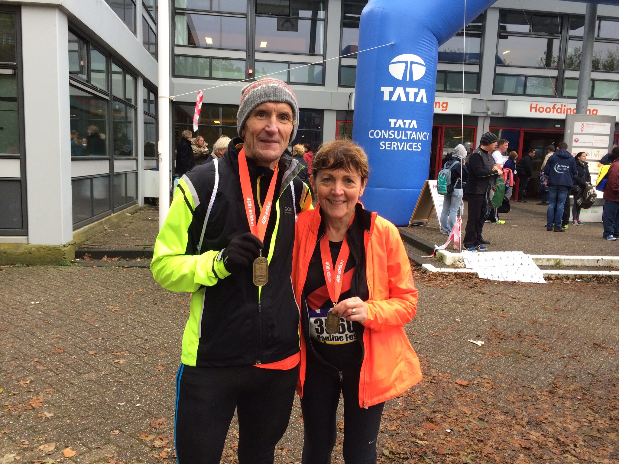 Tony and Pauline Foster from Wigan ran the Amsterdam marathon on Sunday 18th October 2015. Pauline ran the half marathon while Tony ran the whole 26 miles. It's the first time either of them have ever ran a marathon before.