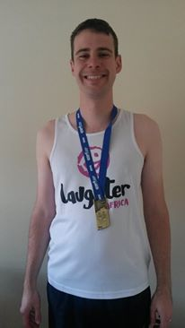 Andrew Telesia ran the Edinburgh Marathon for Laughter Africa on Sunday 31st May.