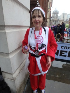 Denise North ran the Liverpool Santa Dash in the pouring rain on Sunday 6th December 2015 to raise money for Laughter Africa. Denis eenjoyed it so much he ran it again in December 2016.