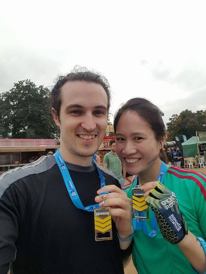Marc and Joy ran the Rougher Mudder event in London in September 2016 to raise money for Laughter Africa